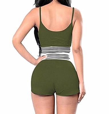ZEZKT☀Damen Sport Yoga Outfit BH + Short Elastizität Sportwear Fitness Anzüge Frauen Yoga Workout Jogging Sport-set Sportanzug Beiläufig 2 Stück High Waist Oberteil Kurze Hose Jumpsuit