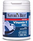 Vitamin E 400iu - great value for natural source and 100% UK made -100 capsules from Nature's Best