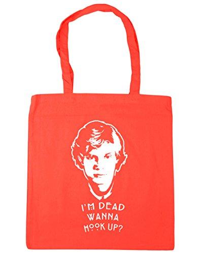 hippowarehouse I 'm Dead Wanna Hook Up? Tote Shopping Gym Beach Bag 42cm 3838, 10Liter Korallenrot