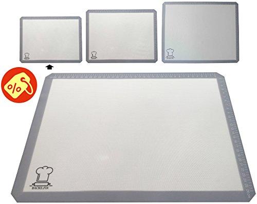 BackeFix - die edle Silikon Backmatte - einfaches backen mit dem modernen Backpapier - hitzebeständig, BPA-frei, zuschneidbar, antihaftbeschichtet   2 Jahre Zufriedenheitsgarantie (40x30)