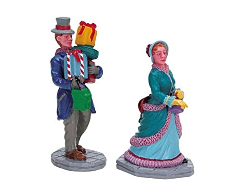 Lemax Caddington Village Collection Out Shopping 2-Piece Figurine Set #72383 by Lemax