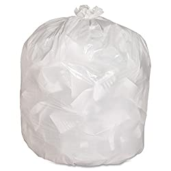 Genuine Joe Kitchen Trash Bag - 13 gal - 33quot; x 24quot; - 0.85 mil (22 Micron) Thickness - Low Density - 150/Box - White