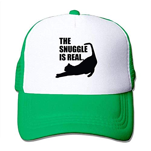 Cord-mesh Back Cap (Hoswee Unisex Kappe/Baseballkappe, The Snuggle is Real Mesh Back Trucker Cap Snapback Hat)