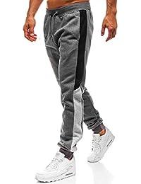 65eba2d18057a9 Herren Hosen Sporthose Trainingshose Cargo Pants Jogginghose Sweatpants  Jogger Mode Freizeit Laufen Fitness Streifen Enger…