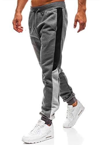 Herren Hosen Hose Sporthose Trainingshose Cargo Pants Jogginghose Sweatpants Jogger Mode Freizeit Laufen Streifen Enger Beinabschluss(Dunkelgrau,XXL)
