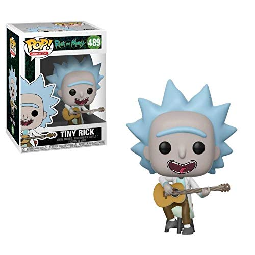 Funko Rick & Morty Pop Tiny Rick w/Guitarra, Multicolor (34215)