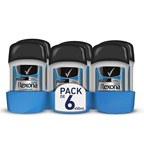 Rexona Men Anti-Transpirant Deostick, gegen Körpergeruch und Achselnässe Cobalt Dry 48-Stunden-Schutz (6 x 50 ml)
