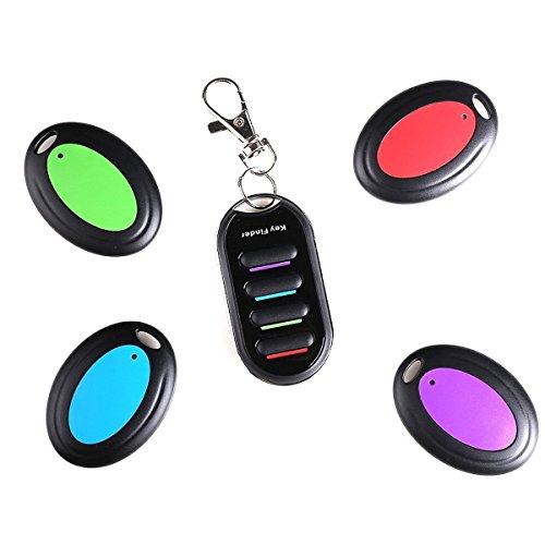 Apore Schlüsselfinder Bravo Tracker - Key Finder - 1 Sender & 4 Empfänger - elektronische Hilfe zum Aufspüren