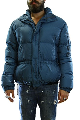 Kejo Mazinga Patch Goose Down Jacket Blue Petrol Piumino con toppe XL