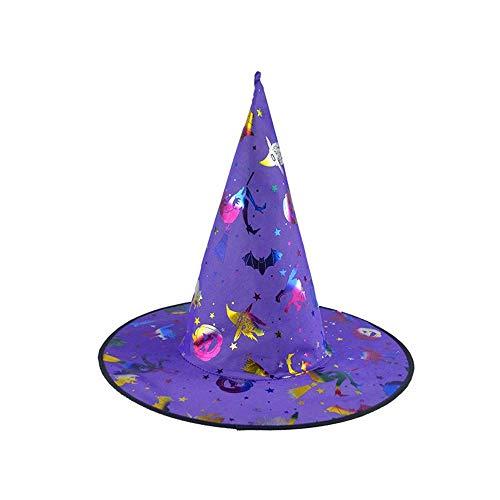 (Qiusa Kürbis-Hexen-Hut der Halloween-1Pc Erwachsener Frauen für Kostüm-Zusatz (Farbe : Lila))