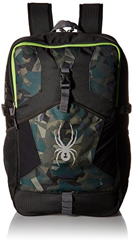 Spyder Active Sports Boy 's Kyd 's Rival Rucksack, Jungen, Black/Guard Camo Print/Fresh -