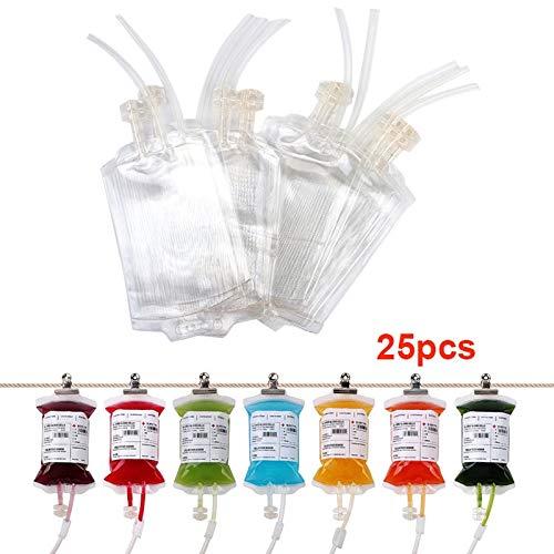 xed Transparent Klare Medizinische PVC Material Reusable Blut Energy Drink Tasche Halloween Vampire Beutel Requisiten ()