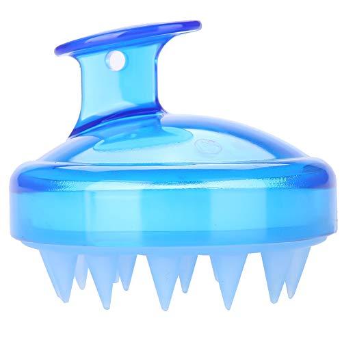 SH-RuiDu Direct Store Silikon Haar Kopfhaut Massagegerät, Shampoo Pinsel Kopfhaut Pflege Haar Waschen Brus für Männer Frauen Kinder Pet (Blau) -