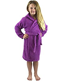 be5d6633ea Children Dressing Gown Kids Boys Girls Hooded Towelling Bathrobe 100% Cotton  Terry Towel Soft Towlling
