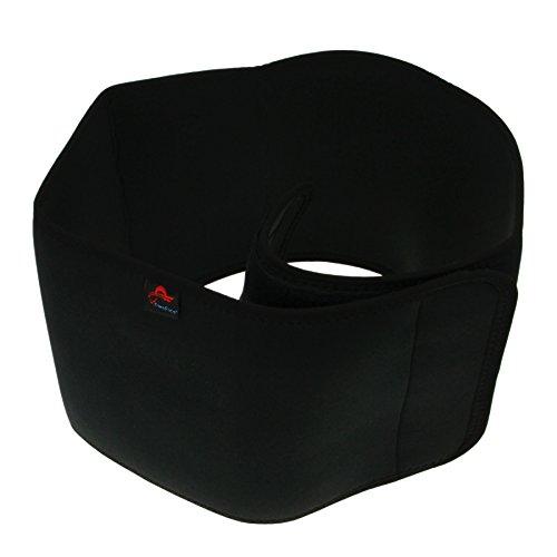 FakeFace Sport Bauchweggürtel Rückenstützgürte Fitnessgürtel Rückenstütze mit Atmungsaktiv Taille Wrap Protector Tailleschutz für Damen und Herren (Schwarz)
