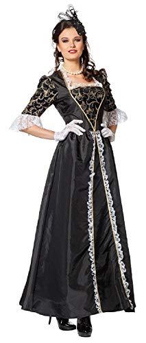 narrenkiste W4084C-48 schwarz Damen Marquisen Kleid Rokoko Kostüm Gr.48