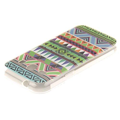 Galaxy Core Plus G350 hülle,MCHSHOP Ultra Slim Skin Gel Schlank TPU Case Schutzhülle Silikon Silicone Schutzhülle Case Back Cover für Samsung Galaxy Core Plus (GT-G3500 / SM-G350 / G3502) - 1 Kostenlo Tribal Aztec