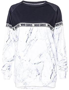 WHO CARES Company© Stampa 3D Blusa Stampare/Motivo/Design Taglia Unica Unisex Primavera Estate 2017 (MARBLE)