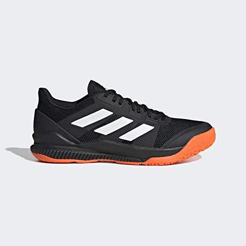 adidas Herren Stabil Bounce Handballschuhe, Schwarz (Negbás/Ftwbla/Narsol 000), 47 1/3 EU
