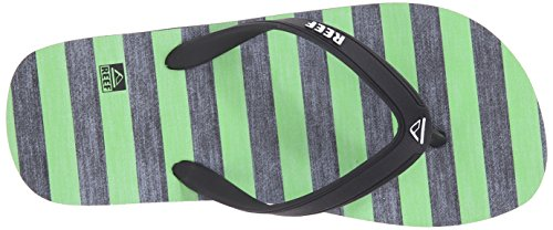 Reef Grom Switchfoot Print, Flip-flop garçon Noir (Green/Black)