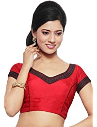 8c1b2e791be5 Utsav Fashion Exquisite Art Raw Silk Blouse in Red