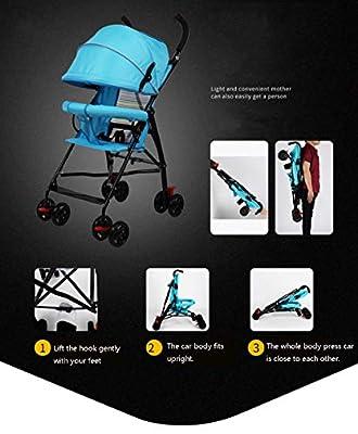 XBYESTC Ultraleichter Kinderwagen, Einfacher Tragbarer Faltender Minisommer-breathable Kinderwagen, Verwendbar Für 1-3 Jähriges Baby