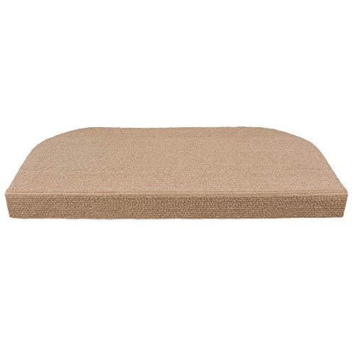 Y-step 15set di pastiglie stair step tappeto antiscivolo tappeto/tappetino adesivo per scalini, khaki, 45 x 23 cm