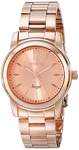 Invicta Women's 17421 Angel Analog Display Swiss Quartz Rose Gold Watch