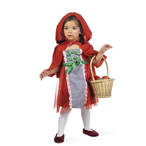 Costume da cappuccetto delle fiabe per bambina - 2 anni