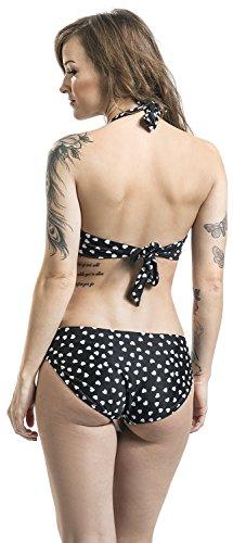 Pussy Deluxe Lovely Heart Bikini Bikini schwarz/weiß Schwarz/Weiß