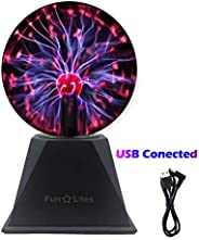 FunLites Magic Plasma Ball,6Inch Thunder Lightning, Touch & Sound Activated Plasma Globe for Parties, Nove
