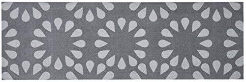 Zala Living Bloom Waschbarer Küchenläufer, Polyamid, Grau, 150 x 50 x 0.5 cm -