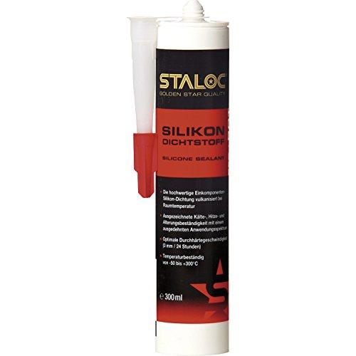STALOC Hochtemperatur-Silikon-Dichtstoff   rot   Qualitäts-Silikon für den Heizungs- und Motorenbau   300 ml Kartusche (Abdichten Heizung)