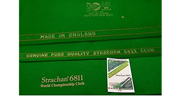 Buy 6811 Strachan Snooker Cloth 30 OZ Strechan West Of England (6 X12) With  Bed Cushions Online at Low Prices in India - Amazon.in