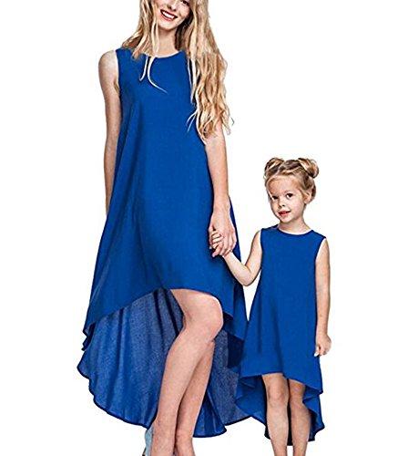keephen Mama Baby Kleid Mama und Tochter Kleid ärmelloses Kleid Strandkleid Lady Mini Dress