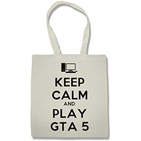 Keep Calm And Play GTA 5 Bolsa De La Compra Para Comestibles | Shopping Bag