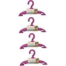 Paquete de 40 | perchas de armario para ropa bebé | con ganchos para colgar camisas, faldas y pantalones | disponible en rosa, azul o blanco