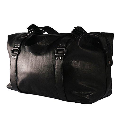 BACCINI® borsa da viaggio GRETA borsa da weekend borsone bagaglio a mano pelle nero