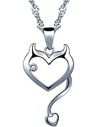 Unendlich U Modisch Katze Kätzchen Herz Damen Mädchen Halskette 925  Sterling Silber Zirkonia Anhänger Kette mit 7cfe350218