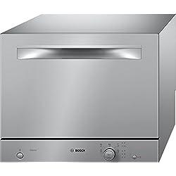 Bosch Lave-vaisselle compact pose libre SKS50E32EU Serie 2 / A+ / 174kWh/an / 6 couverts/technologie ActiveWater/capteur de charge Metalldekor