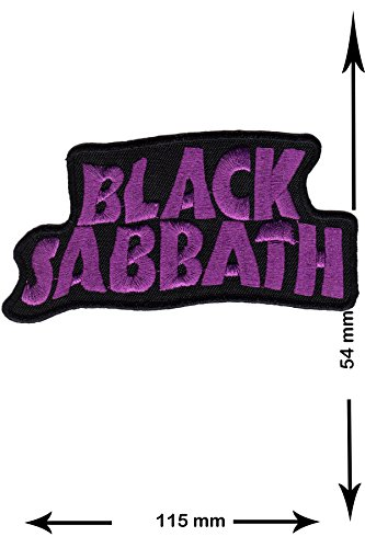 Patch - Black Sabbath - purple - lila - Musicpatch - hot iron - Aufnäher - Aufbügler - Bügelbild -