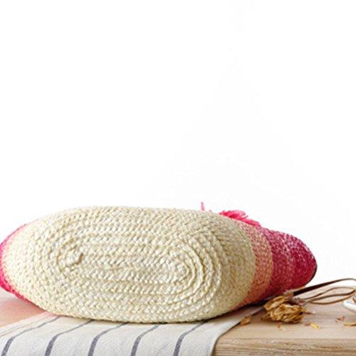 Youjia Donne Borse Da Spiaggia Borse Di Paglia Borse Di Fiori Borse Shopper Borse A Spalla Boho # 1 Rosa