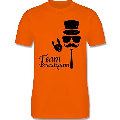 JGA Junggesellenabschied - Team Bräutigam Hipster Suit up - Herren Premium T-Shirt Orange