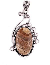 Neerupam Collection naturelle jaspe pierre précieuse bijoux en argent allemand pour les femmes