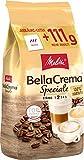 Melitta Ganze Kaffeebohnen, 100% Arabica, Milder Geschmack, leichter Charakter, Stärke 2, BellaCrema Speciale, 1111g