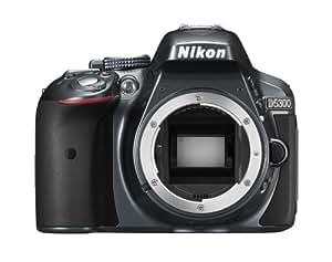 Nikon D5300 SLR-Digitalkamera (24,2 Megapixel, 8,1 cm (3,2 Zoll) LCD-Display, Full HD, HDMI, WiFi, GPS, AF-System mit 39 Messfeldern) nur Gehäuse anthrazit