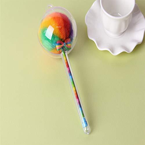 Hairball-Gelfeder 0.5Mm Schwarze Schrift Briefpapier BüRo Schulbedarf Haarfarbe Haar Ball Kugelschreiber Kugelschreiber Kugelschreiber (8 Installiert Ist) 17.5 * 6Cm (0,5 Mm)