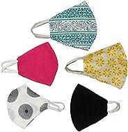 Rapsodia Cotton Mouth Nose Cover Unisex Anti-Pollution Cloth Mask- Assorted Colors