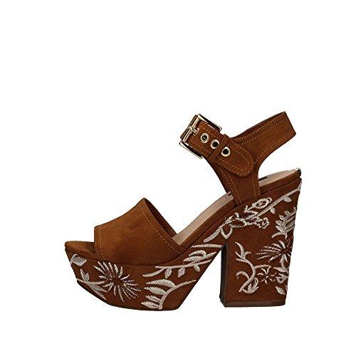 Guess Carolin2 donna, pelle scamosciata, sandali con plateau Beige