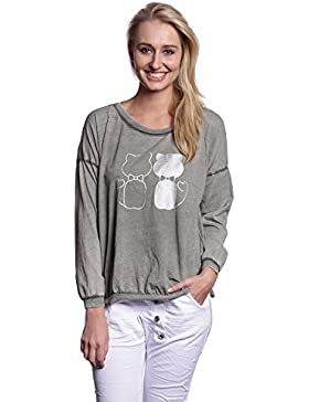 Abbino 7112-12 Camisas Blusas Tops para Mujer - Hecho en ITALIA - 6 Colores - Entretiempo Primavera Verano Otoño...